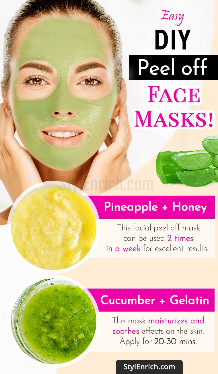 DIY Peel Off Face Mask