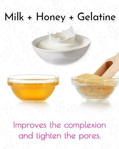 Milk, Honey and Gelatine Blackhead Mask