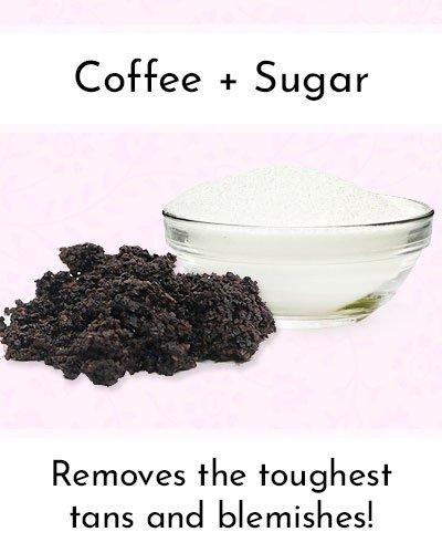 Sugar And Coffee Scrub To Shrink Pores