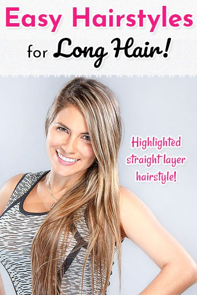 Highlighted Straight Layer Style Hair