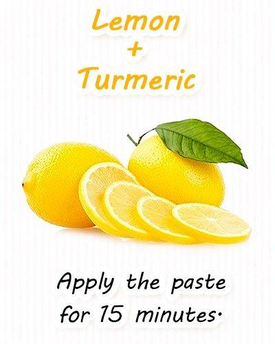 Lemon and Turmeric Face Mask