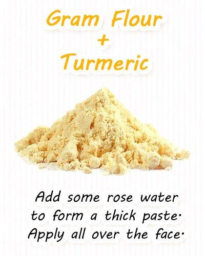 Turmeric and Gram Flour Face Masks