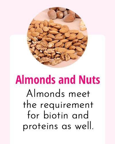 Almonds-Biotin Rich Food