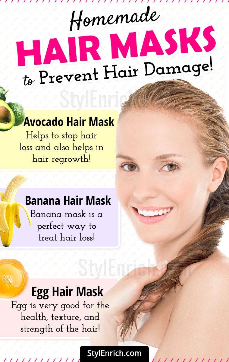 diy hair mask for damaged hair prevent hair loss. Black Bedroom Furniture Sets. Home Design Ideas