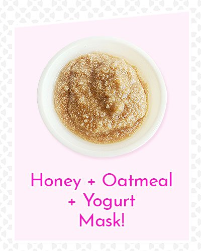 Honey, Oatmeal and Yogurt Mask