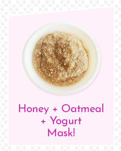 Honey, Oatmeal and Yogurt Mask