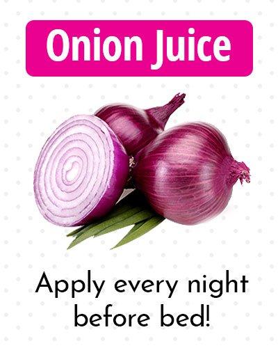 Onion Juice for Dark Spots