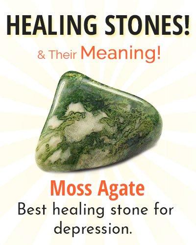 Moss Agate Healing Stone