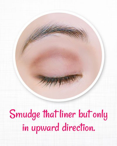 Smudge the liner