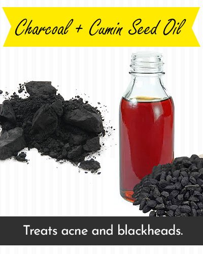 Charcoal & Cumin Seed Oil Face Mask For Acne