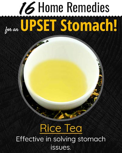 Rice Tea For Upset Stomach
