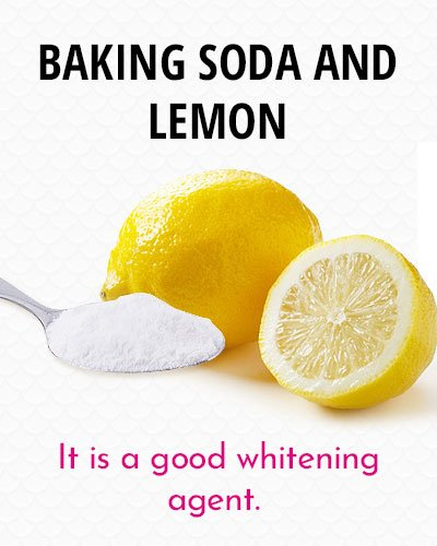 Baking Soda And Lemon to Whiten Your Teeth
