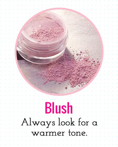 Blush for a warmer tone