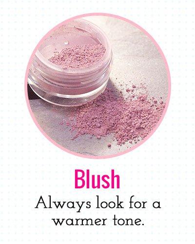 Blush for a warmer tone