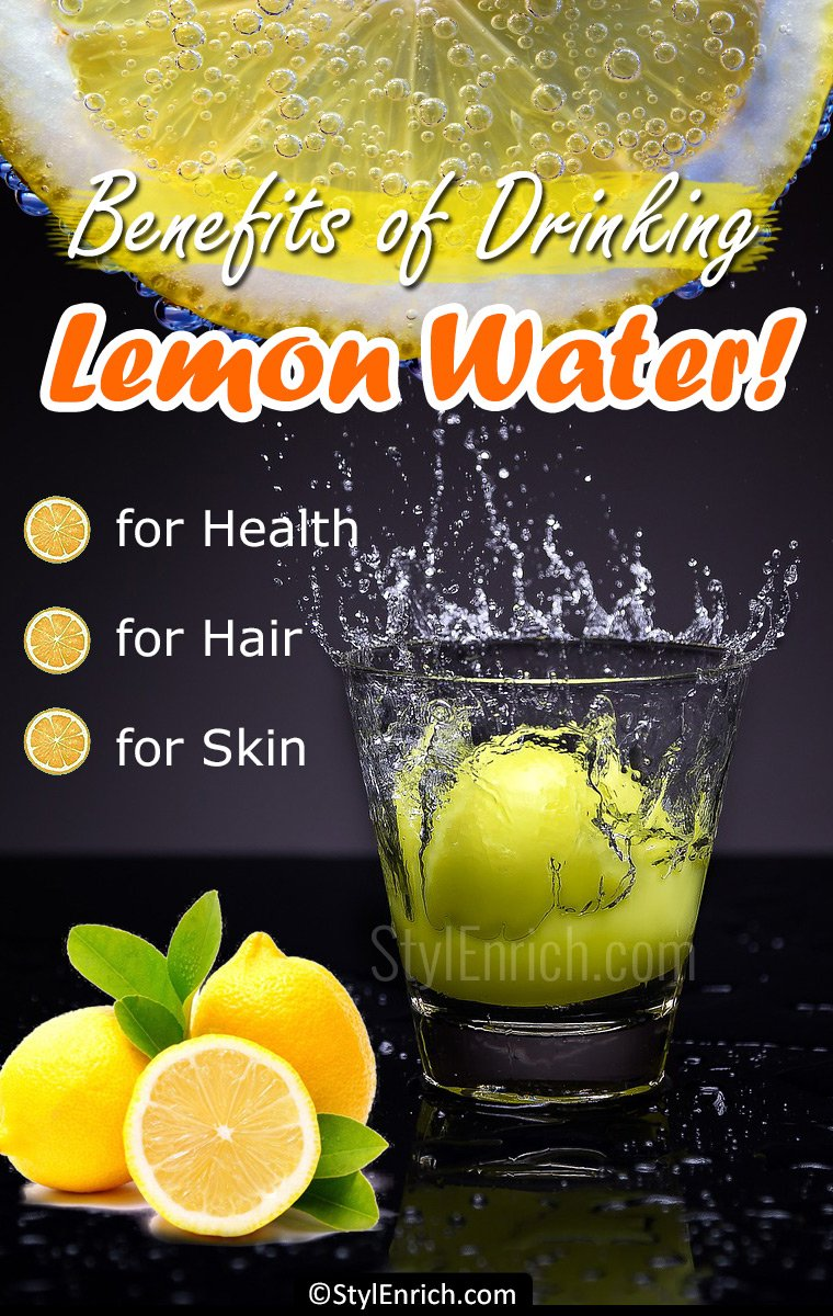 Benefits of drinking lemon water for health, hair and skin!