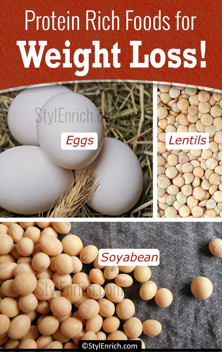 Top 5 Protein Rich Foods For Weight Loss!