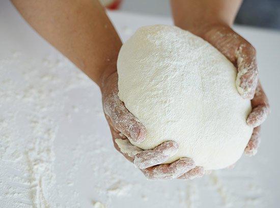 Flour Powder in Hand