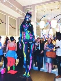 AlexisBittar-model-live-painting