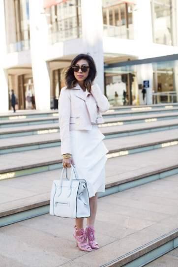 chiara boni melania white dress, nyfw 2015 recap, lincoln center