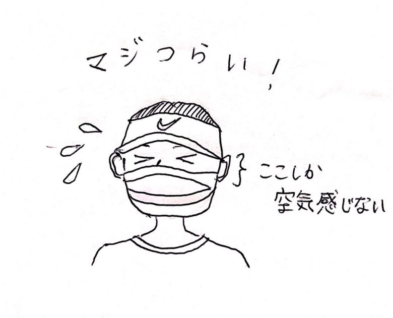 Style of Tennis tennis wearing face mask due to corona
