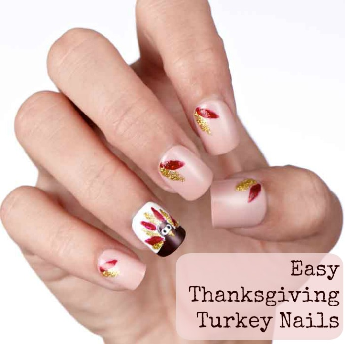 Easy Thanksgiving Turkey Nails
