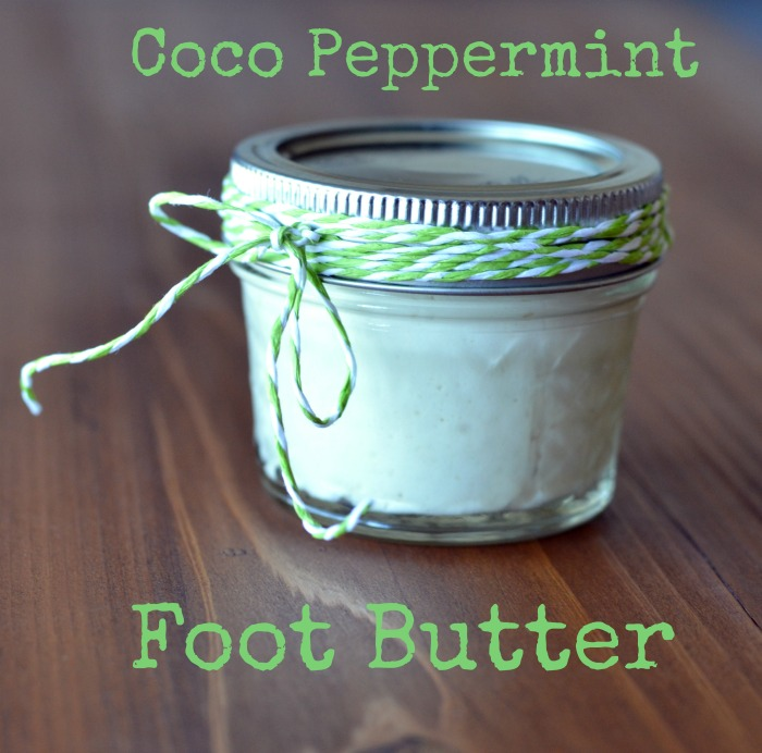 Coco Peppermint DIY Foot Balm Recipe