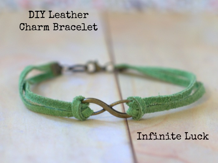 DIY Infinite Luck Leather Charm Bracelet