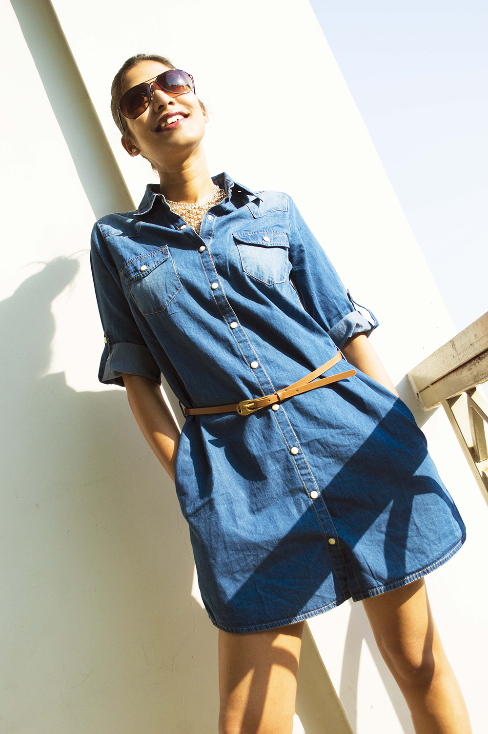 Fashion, Style, Weekend Clothing, Indian Fashion Blogger, Denim Shirt Dress, Photography-2