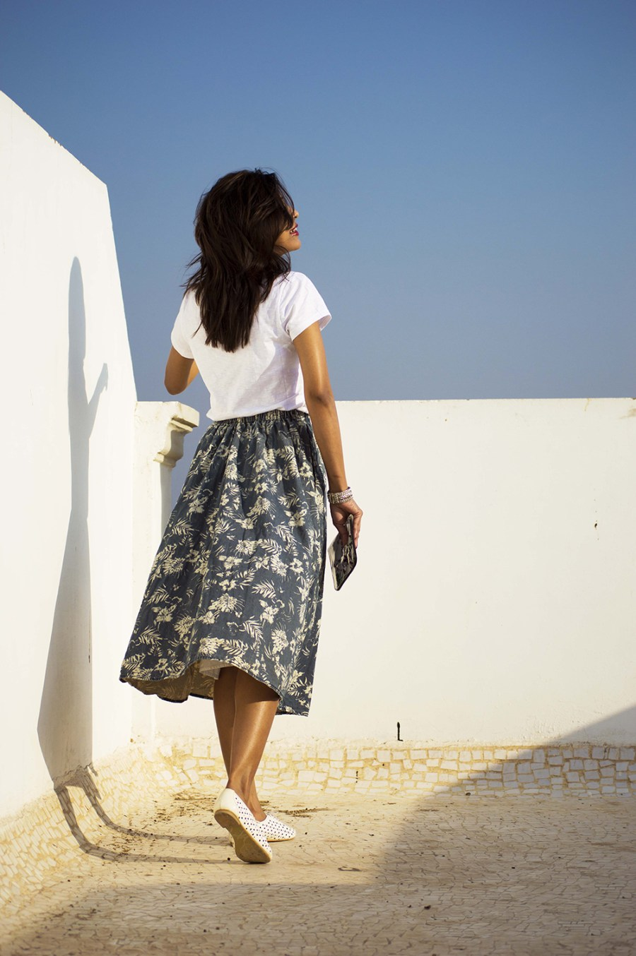 Fashion, Style, Indian Fashion Blogger, Street Style, Summer fashion, printed midi skirt style, Printed denim skirt, photography, style over coffee-4