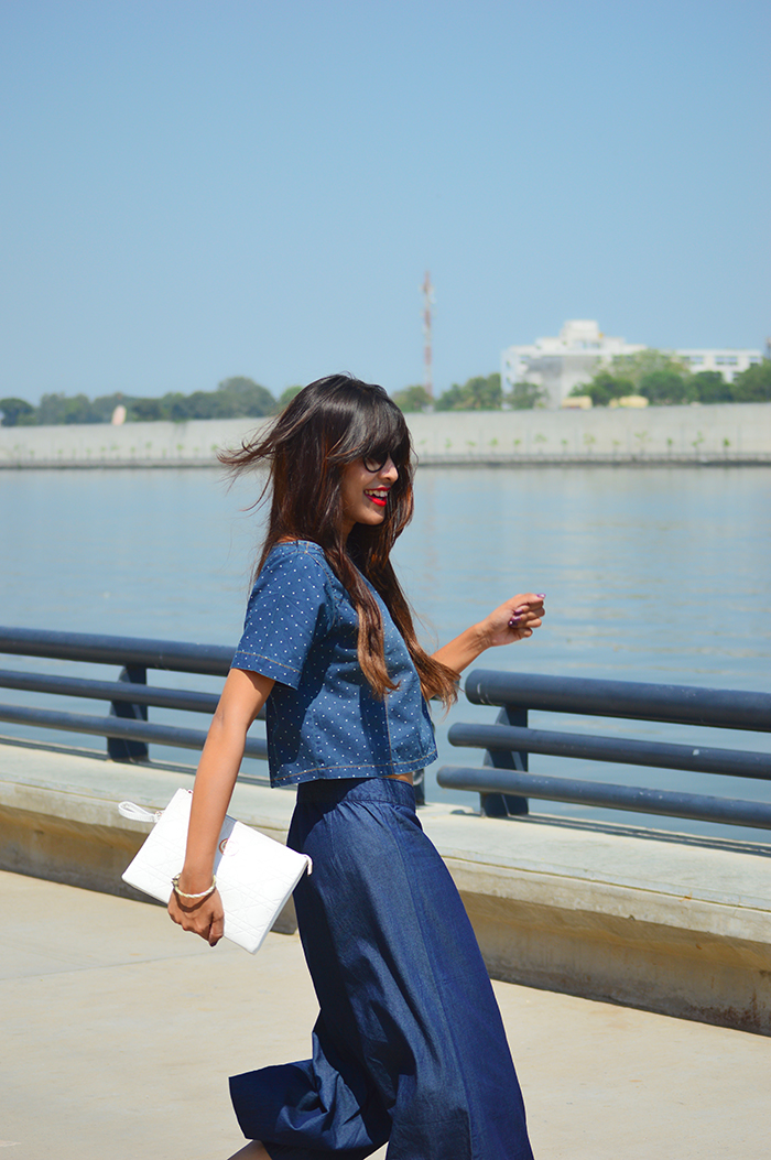 Fashion, Style, Indian Fashion Blog, Indian Fashion Blogger, Street Style, Fashion Photography, Outfit of the day, Style Over Coffee, Denim, Denim culotte, Denim Crop Top, Casual Wear
