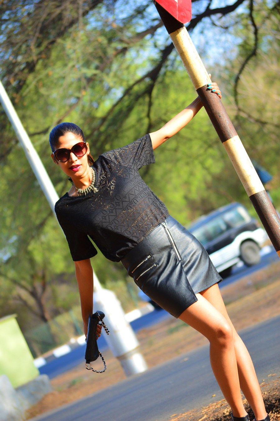 Fashion, Style, Fashion Blogger, Indian Fashion Blogger, Black Skirt, Leather Skirt, Street Style, Photography, Outfit post, Street Style Photography, Personal Style, Black Outfit