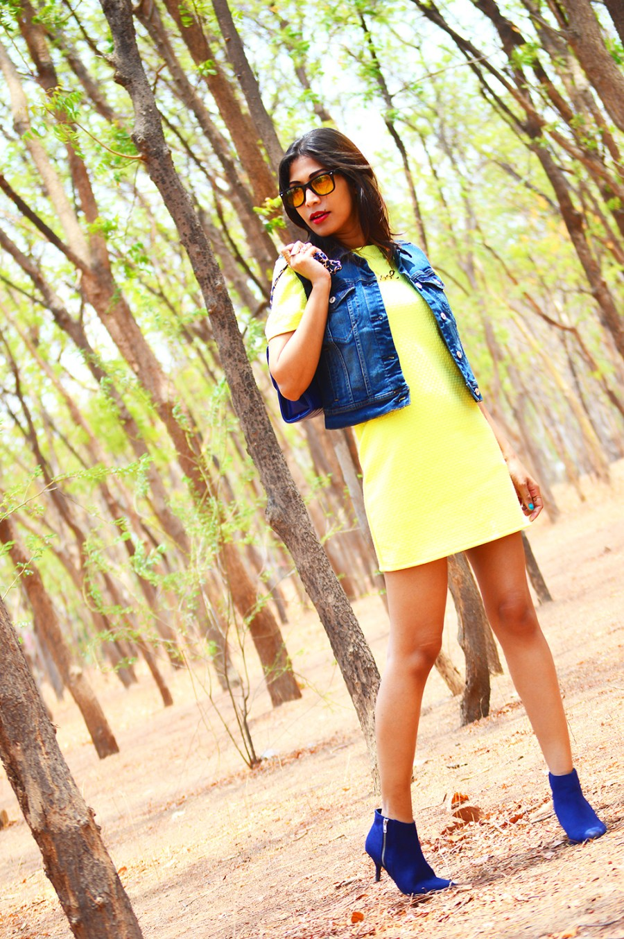 Fashion, Style, Street Style, Summer Fashion, Fashion Photography, Yellow Dress, Denim Vest, Sling Bag, Fashion Blogger, Indian Fashion-6