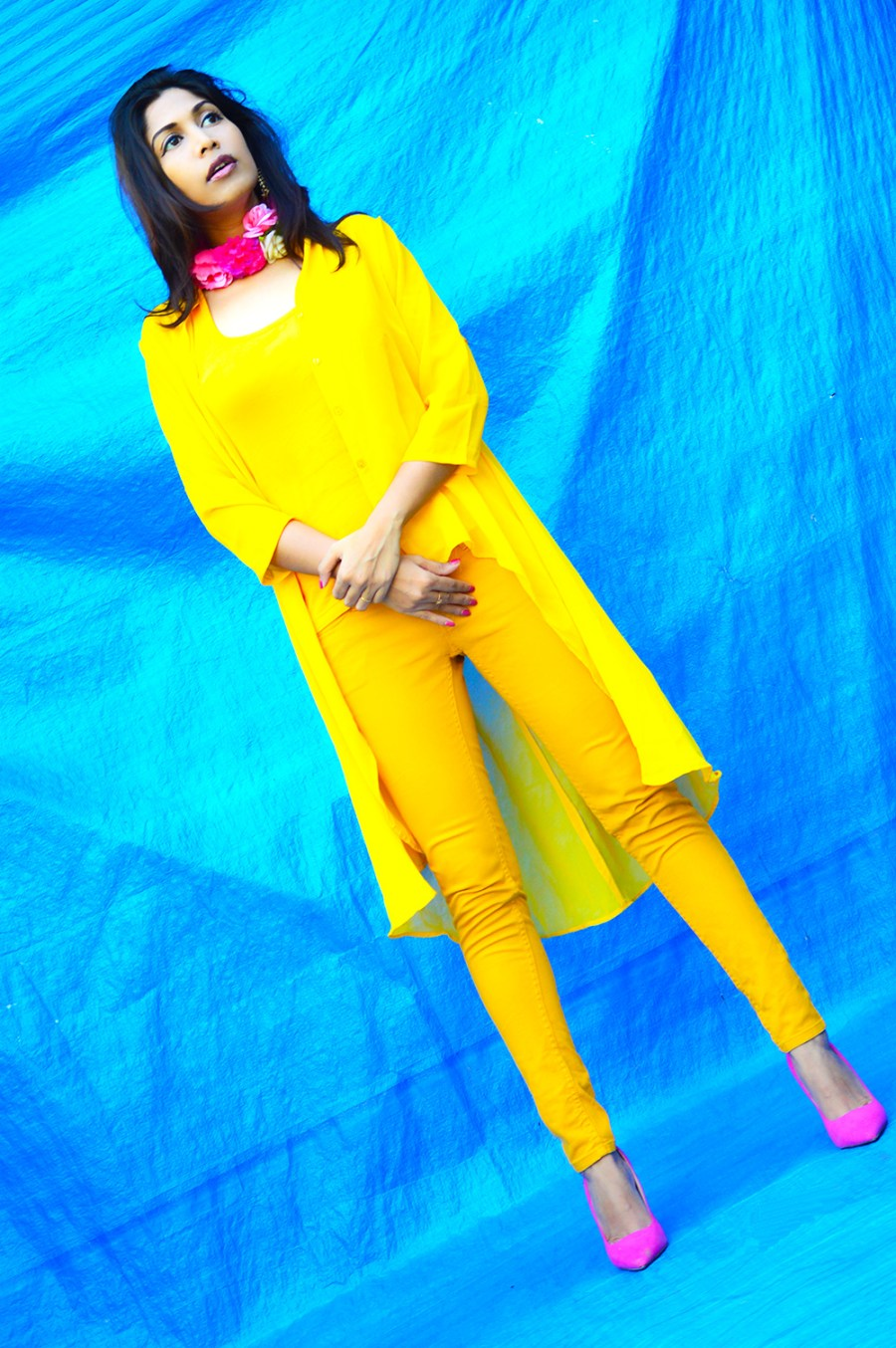 Fashion, Style, Street Style, Fashion Photography, Summer Fashion, Indian Fashion Blogger, Fashion Blogger, Yellow Shrug, Yellow Outfit, Summer Colours, Style Over Coffee, Beauty-6