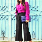 Fashion, Style, Style Over Coffee, Fashion Photography, Street Style, Indian Fashion Blogger, Black Culottes, Wine Coloured shirt, Autumn Hues, Winter Fashion-3