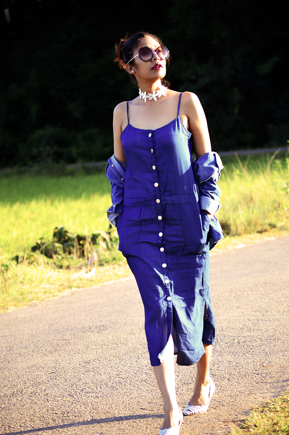Fashion, Style, Indian Fashion Blogger, Denim Style, Denim Slip Dress, Denim Shirt, Fall Fashion, Street Style, Fashion Photography, top fashion-6