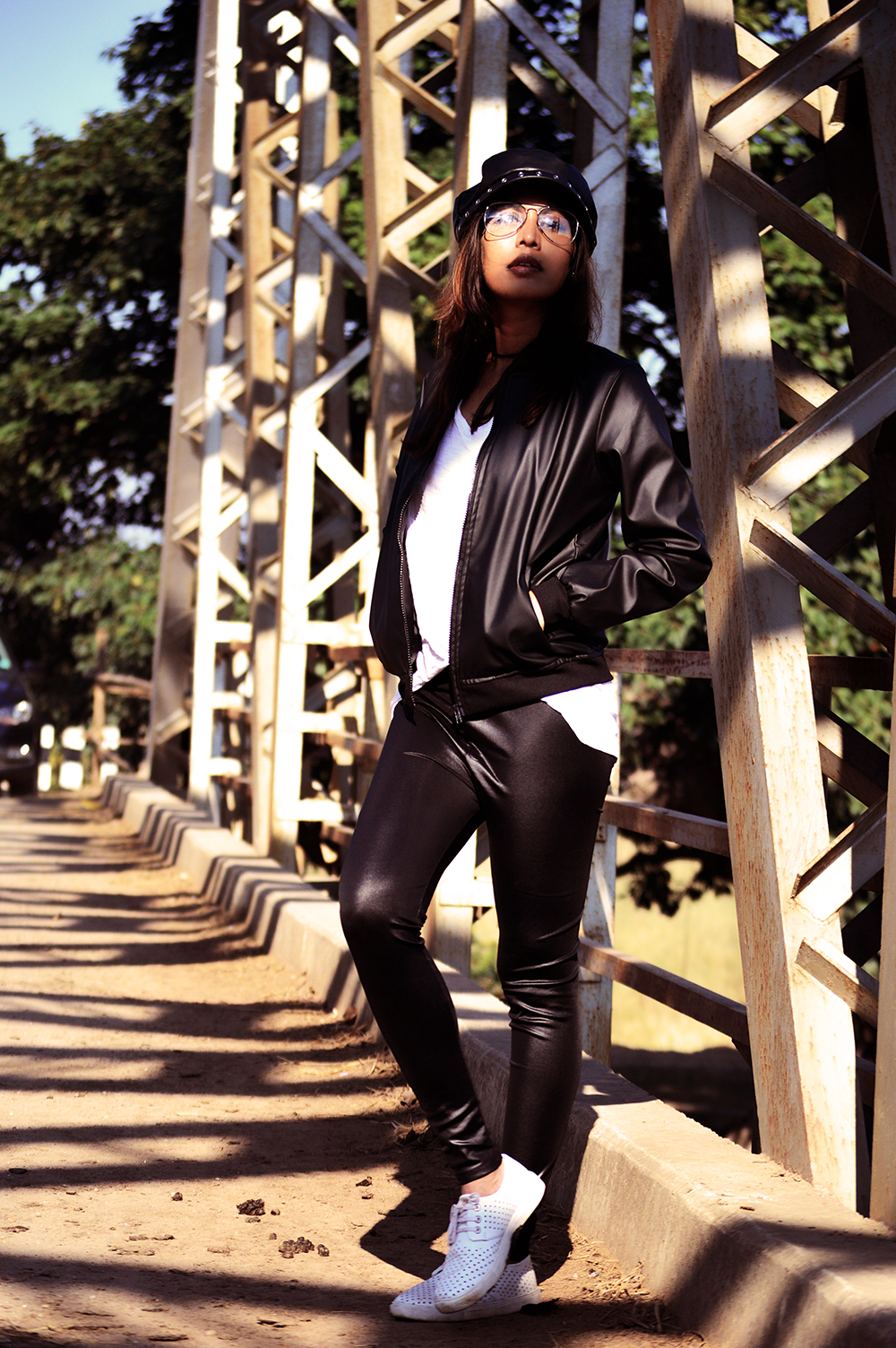 Fashion, Style, Winter Fashion, Bomber Jacket, Faux Leather, Fashion Photography, Street Style, Indian Fashion Blogger, Bomber Jacket Style-7
