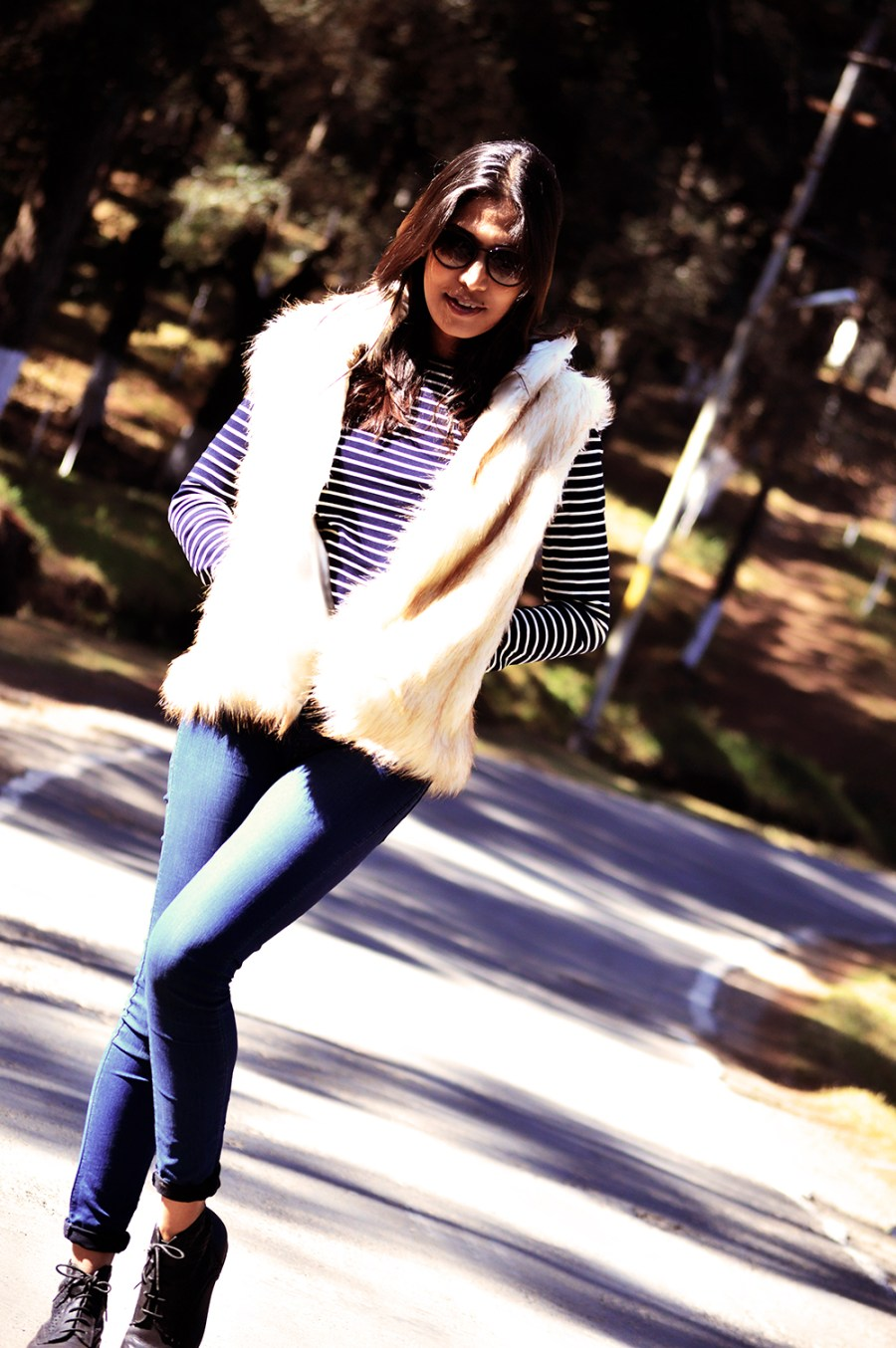 Fashion, Style, Winter Fashion, Street Style, Shillong, Fur, Faux Fur Vest, Photography, Travel-6