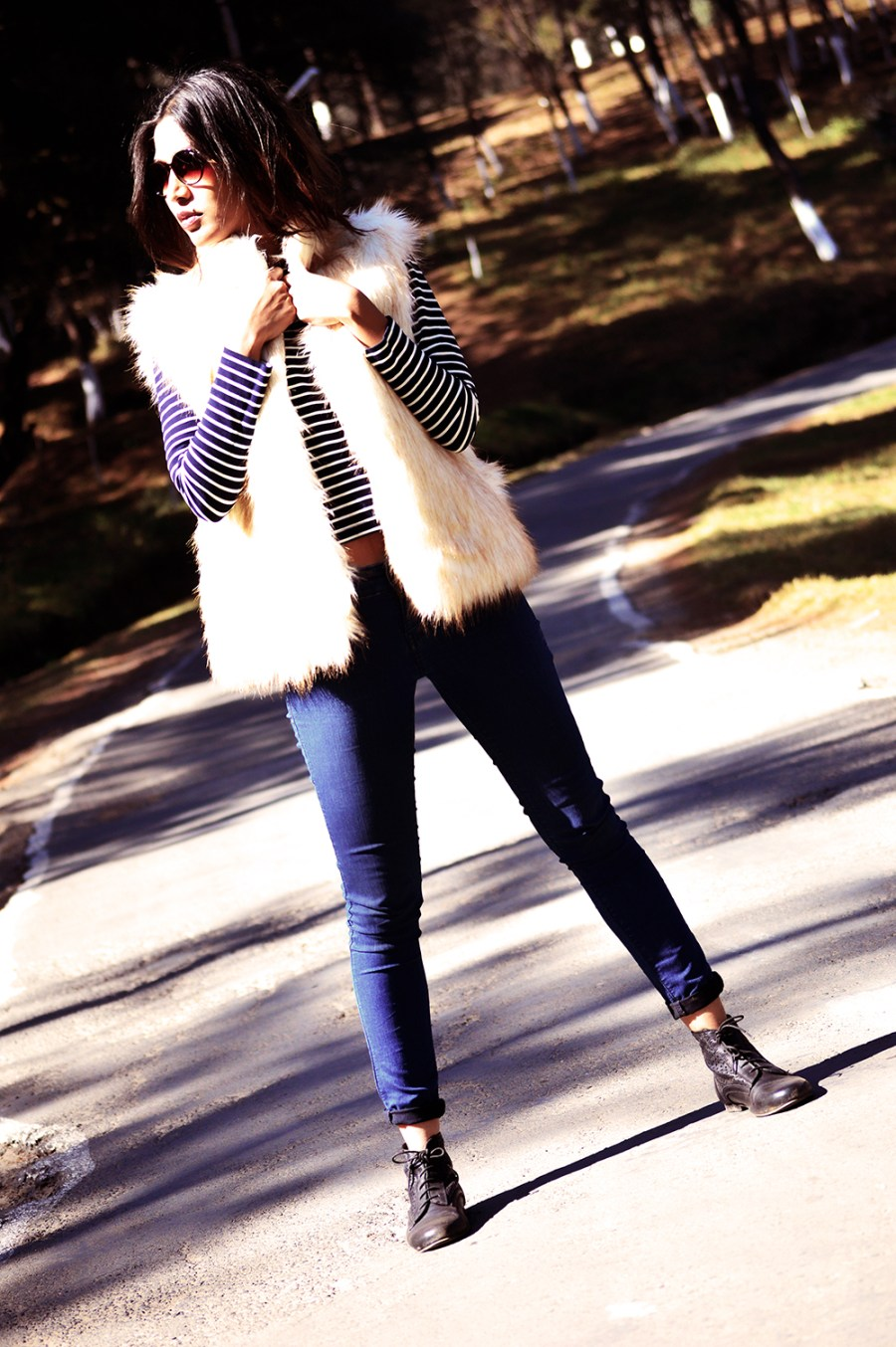 Fashion, Style, Winter Fashion, Street Style, Shillong, Fur, Faux Fur Vest, Photography, Travel-2