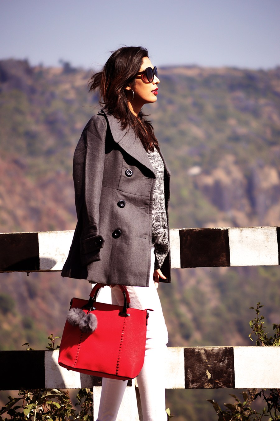 Fashion, Style, Grey Outfit, Vacation Style, Photography, Indian Fashion Blogger, Street Style, Winter Fashion, Grey Coat- 2