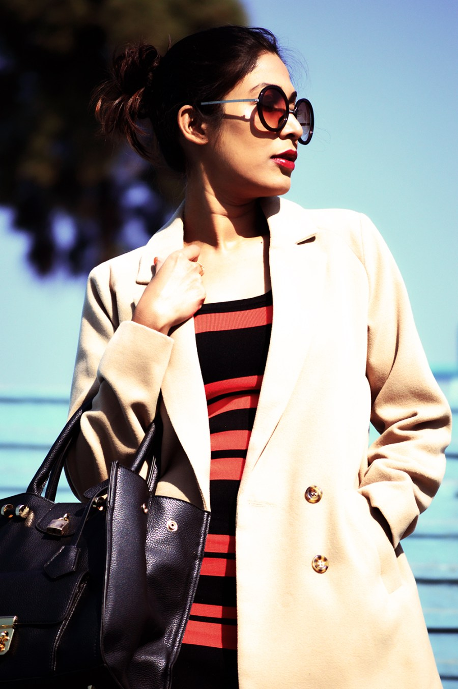 Fashion, Style, Indian Fashion color, Striped Dress, Color, Photography, Street Style, Winter Fashion, Beauty-5