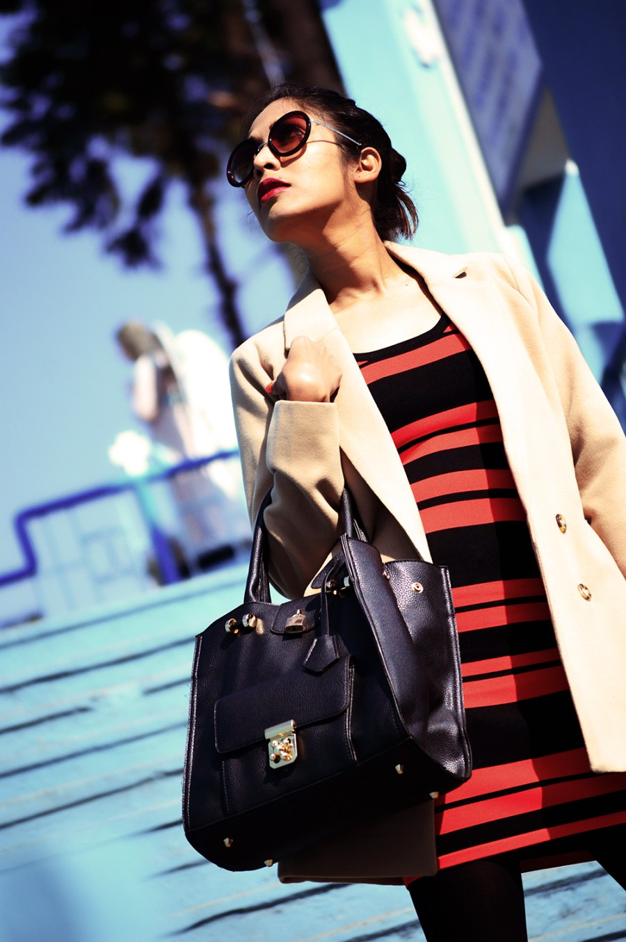Fashion, Style, Indian Fashion color, Striped Dress, Color, Photography, Street Style, Winter Fashion, Beauty-2