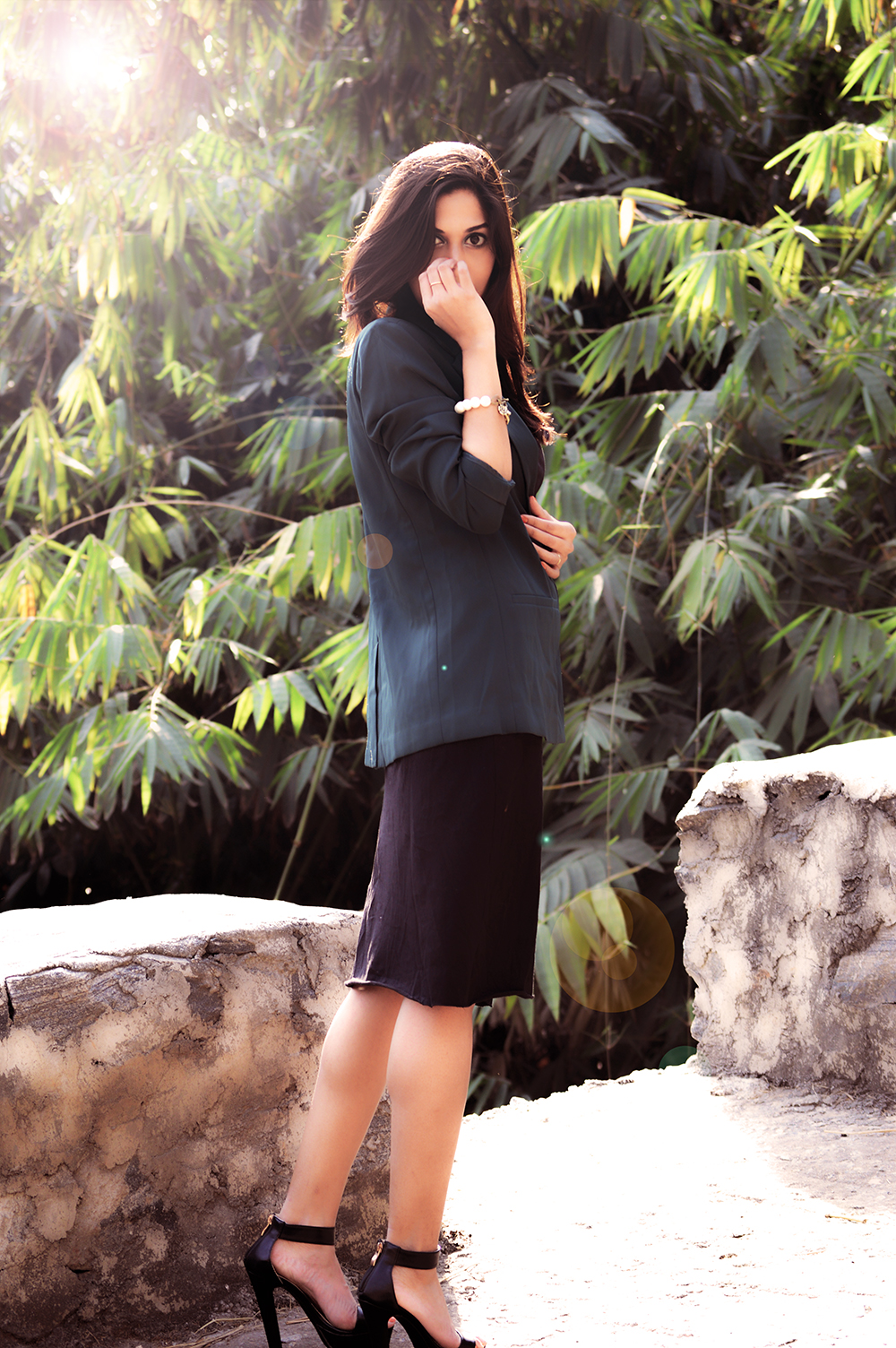 Fashion, Style, Greenery, Black dress, LBD, Indian Fashion Blogger, Beauty, Photography-2