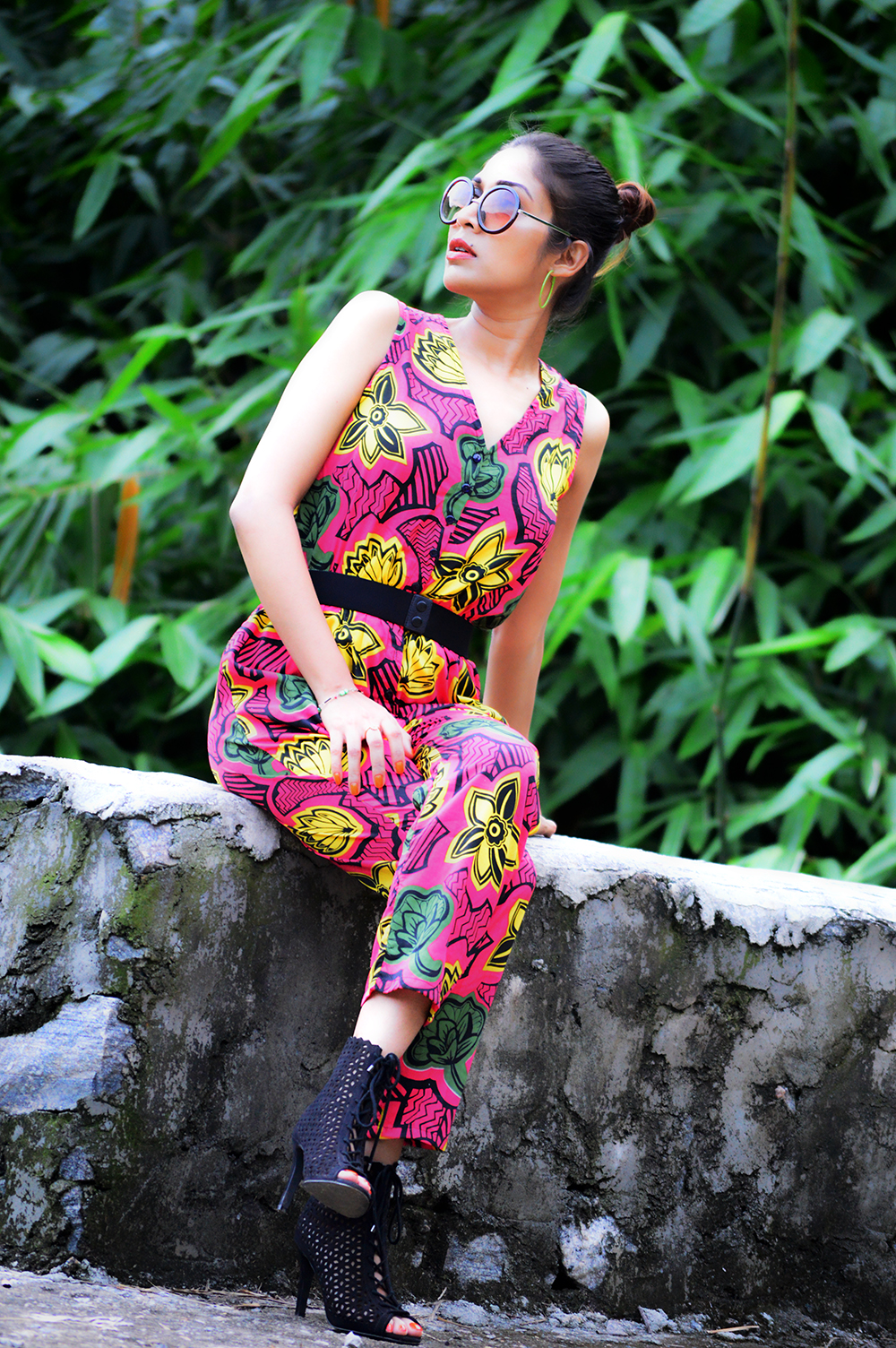 Tropical, Fashion, Printed Jumpsuit, Style, Beauty, Photography, Personal Style, Indian Fashion Blogger- 6