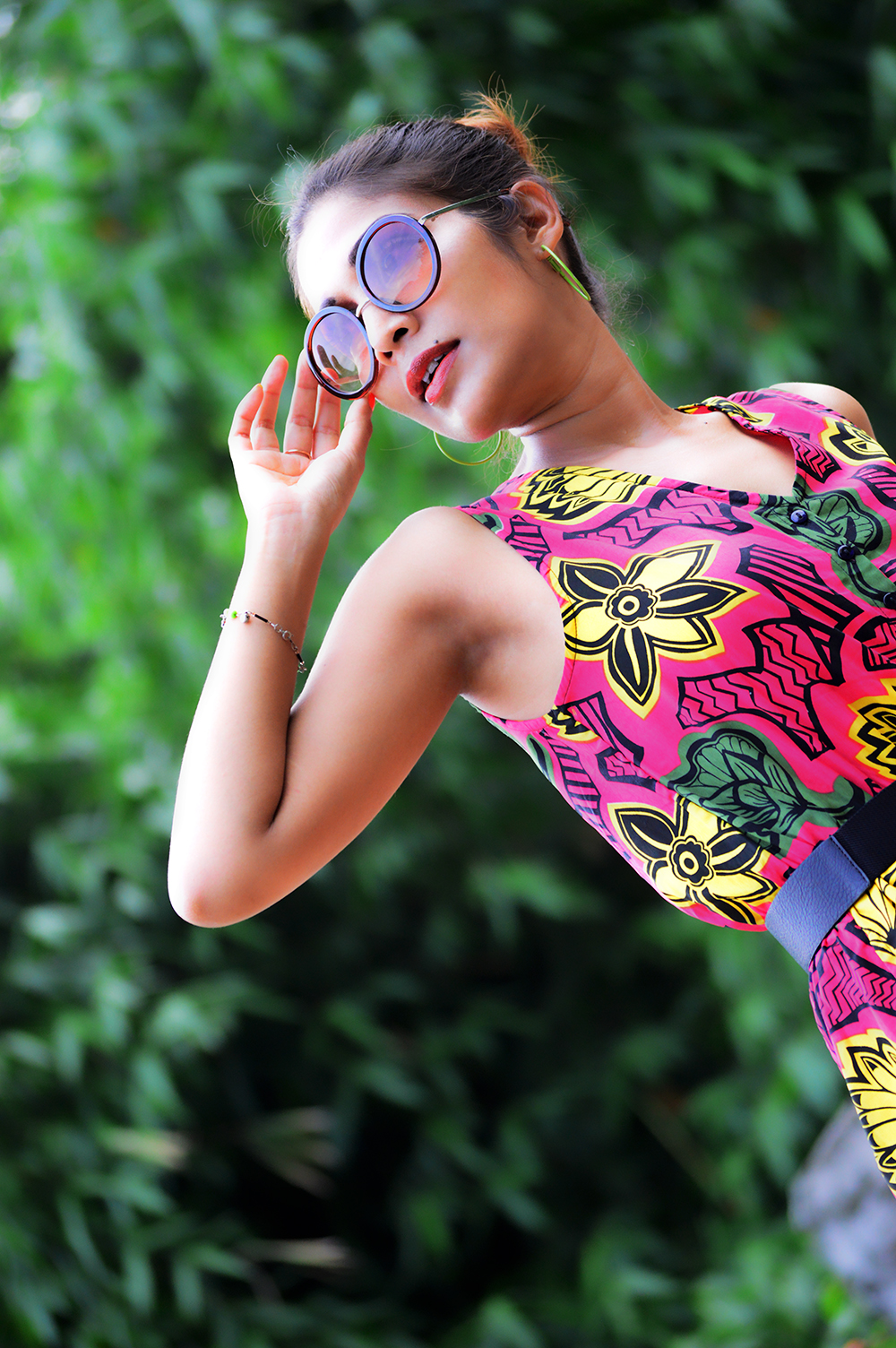 Tropical, Fashion, Printed Jumpsuit, Style, Beauty, Photography, Personal Style, Indian Fashion Blogger- 3