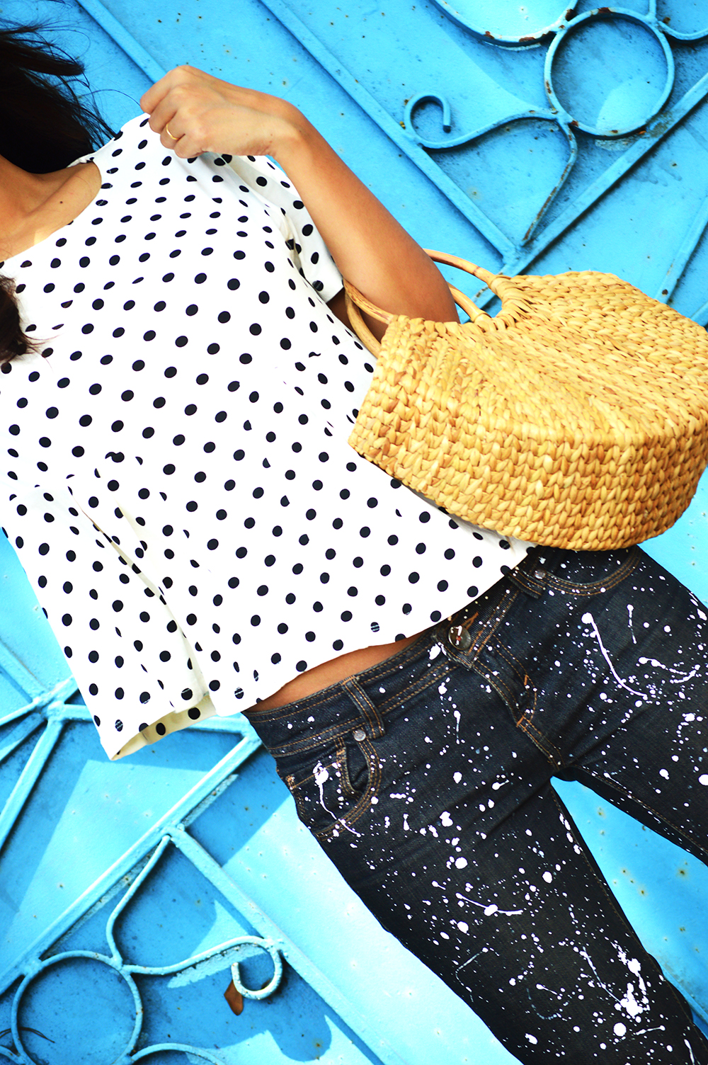 Fashion, Style, Polka Dots, DIY, Do It Yourself, Denim, Photography, Indian Fashion Blogger-1