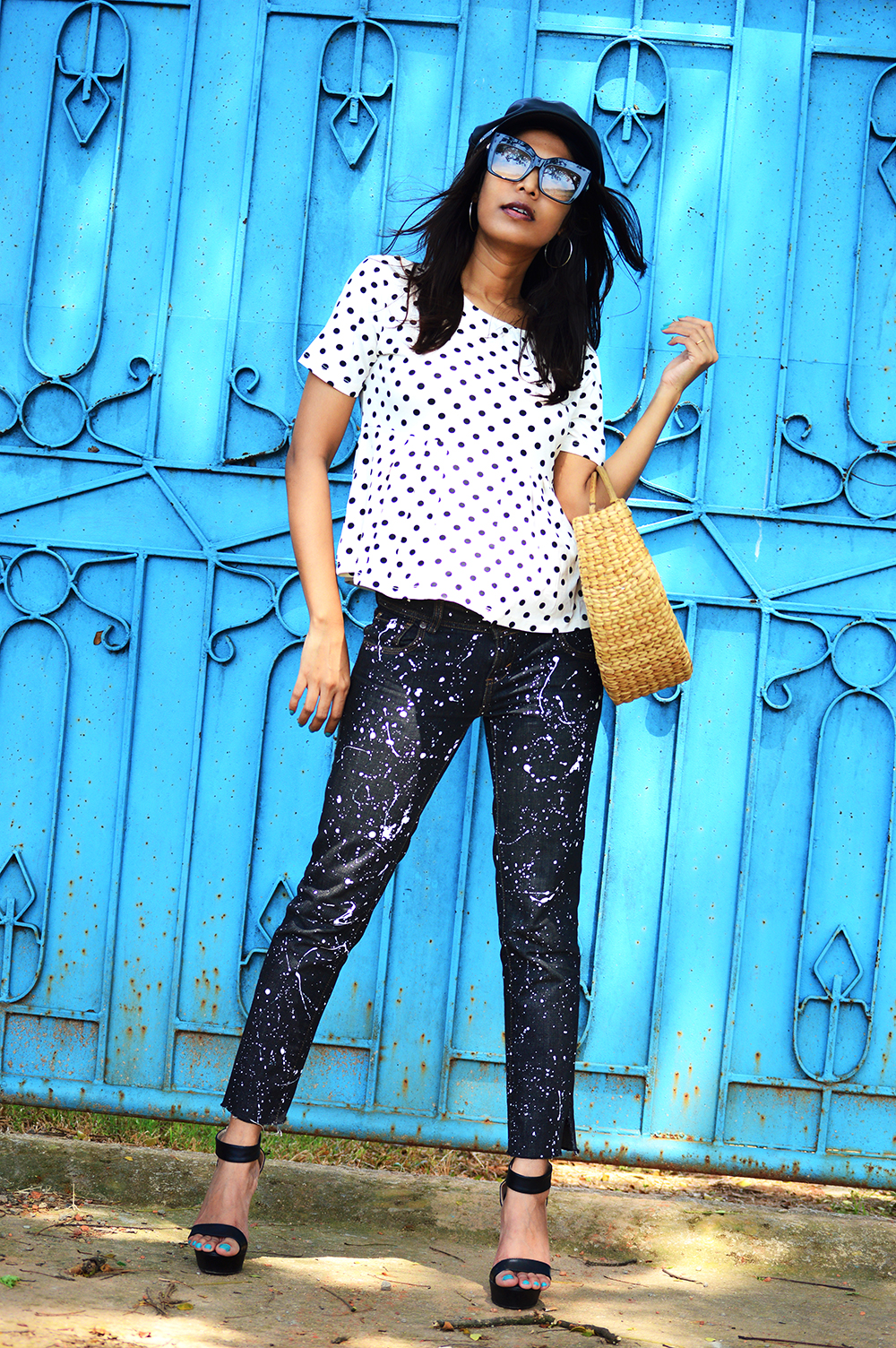 Fashion, Style, Polka Dots, DIY, Do It Yourself, Denim, Photography, Indian Fashion Blogger-4