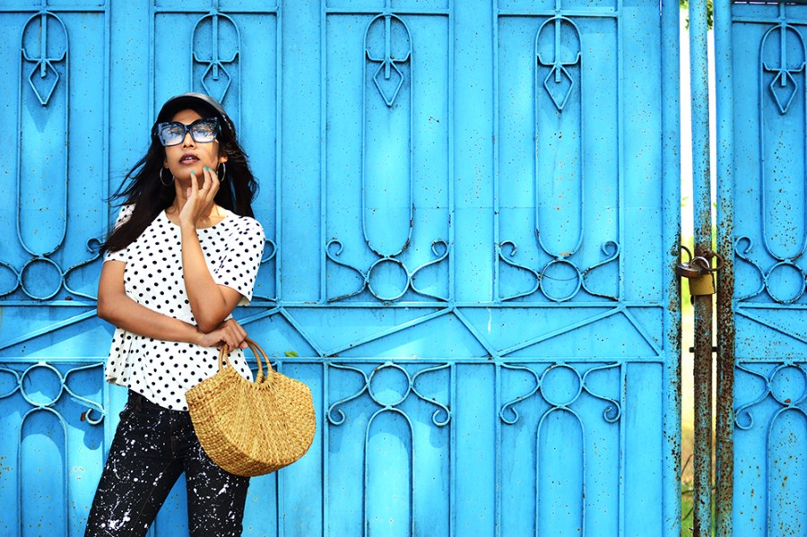 Fashion, Style, Polka Dots, DIY, Do It Yourself, Denim, Photography, Indian Fashion Blogger-3