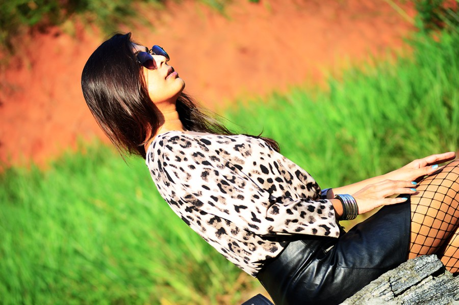 Leopard Top, Street Style, Indian Fashion Blogger, Fashion, Style, Fishnet Stockings, Faux Leather skirt, Photography-3