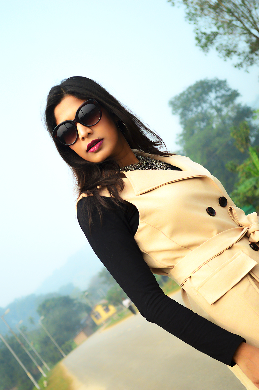 Sleeveless, Trench Coat, Bootcut Denims, Fashion, Style, Photography, Street Style, Indian Blogger, Fashion Blogger-1