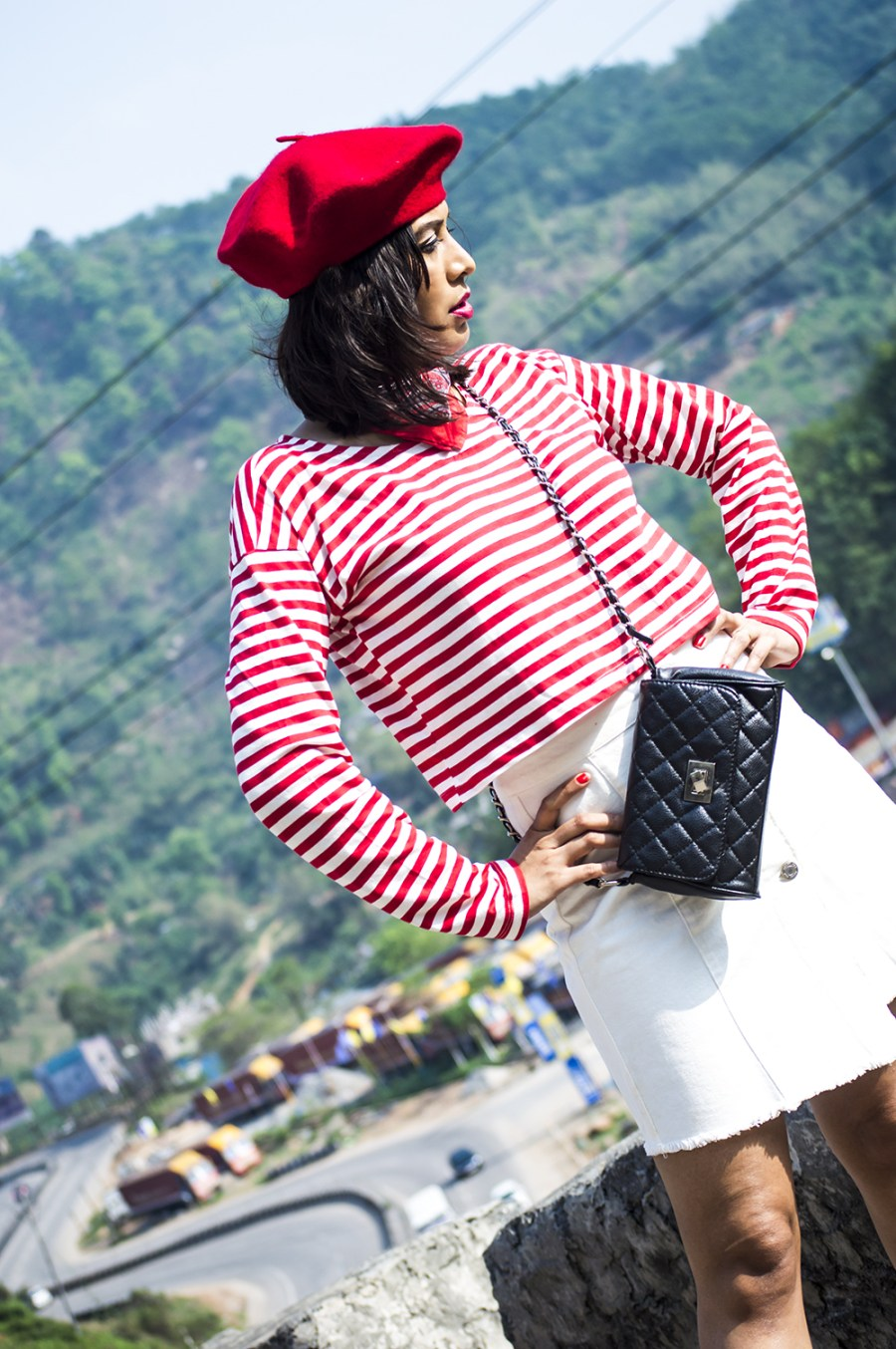 Fashion, Style, Indian Fashion Blogger, Beauty, Beret, French Style-1
